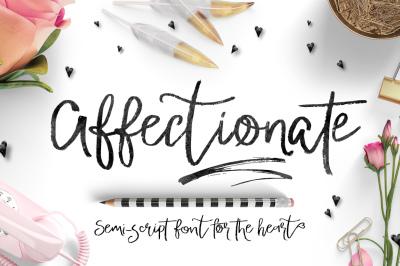 Affectionate Brush Script Font
