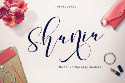 Shania sweet calligraphy
