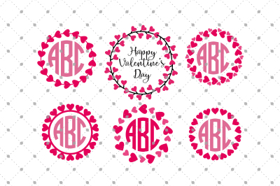 Valentine's Day Monogram Frames Files
