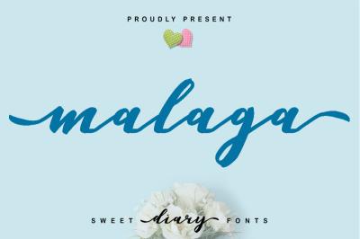 Malaga Diary   A Sweet Diary Fonts