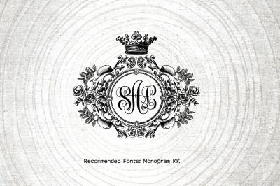 Royal Wedding Logo-Wedding Monogram