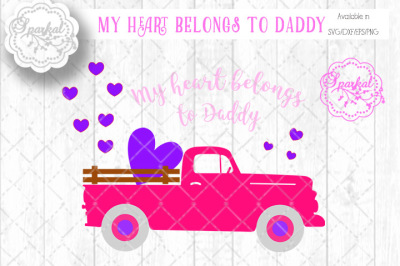 Valentine Truck - Cutting File - SVG/DXF/EPS/PNG