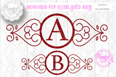 Monogram Frames - SVG Cut files