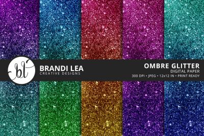 Ombre Glitter Digital Paper
