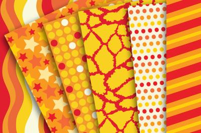 Digital Paper Orange and Yellow