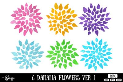 Dahlia Flower Clip Art Ver. 1