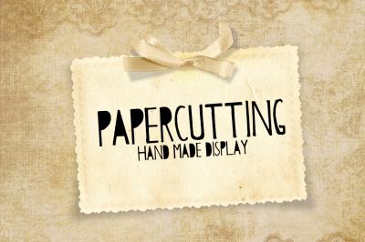 Papercutting Fonts