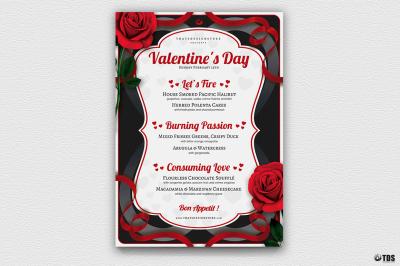 Valentines Day Menu Template V8