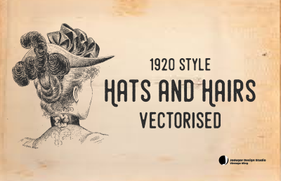 Vintage-Hats & Hair-30 Ladies