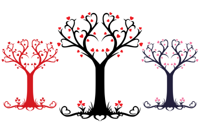 Heart Tree - Vector Design