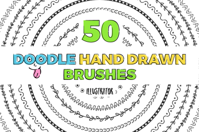 50 hand drawn brushes BUNDLE