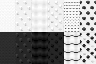 12 Minimalistic seamless patterns