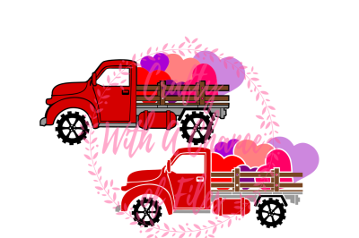 Valentine's Day SVG * Vintage Red Truck SVG * Hearts SVG * Farm Truck SVG * Valentine's Day Decor SVG * Red Truck SVG * Love Truck SVG * Love SVG * Valentine SVG *