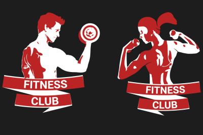 Logo for fitness clubs