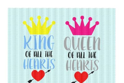King and Queen of all the Hearts Cutting/ Printing Files