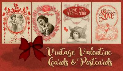 Valentine cards and postcards