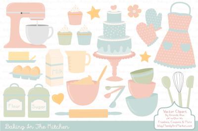 Pastel Baking Clipart & Vectors