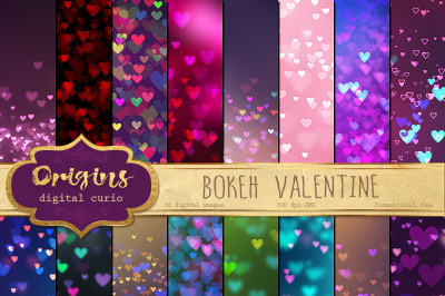 Bokeh Valentine Backgrounds