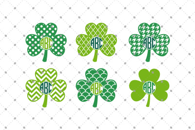 Shamrock Monogram Frames files