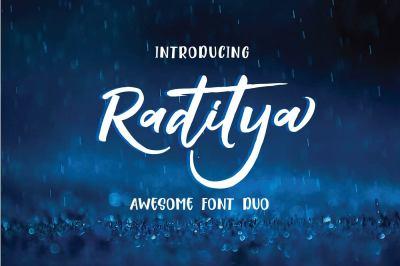 Raditya Font Duo OFF 75%