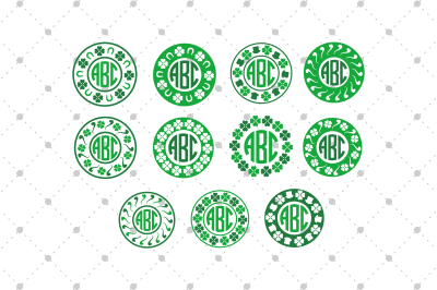 St. Patrick's Day Monogram Frames files