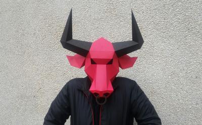 DIY BULL Mask (Printable) - 3d papercrafts