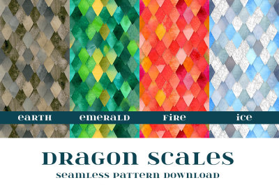 Dragon Scales Seamless Pattern