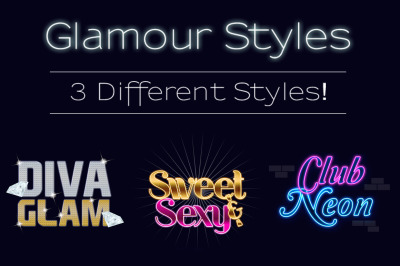 Glamour Text Styles Pack