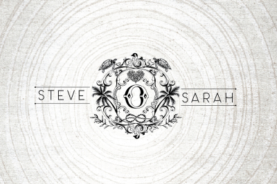 beach themed wedding logo