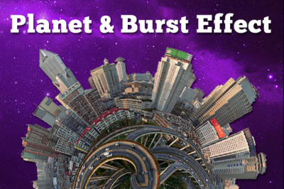 Spherize Planet and Burst Effect