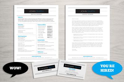 Resume Business Card Template Bundle