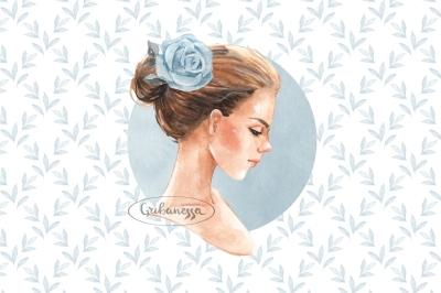 Romantic girl. Blue set