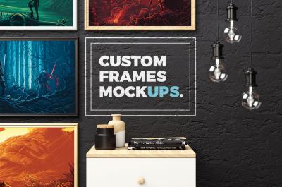 Custom Frames Mockups