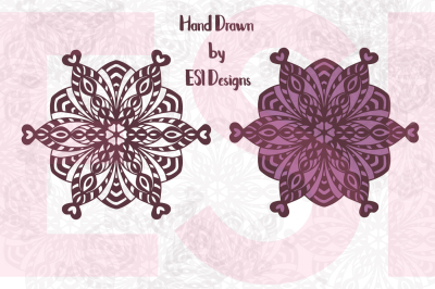 Mandala Designs Set 1 - SVG, DXF, EPS & PNG