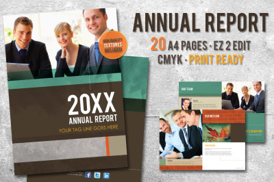 20 Page Annual Report Template