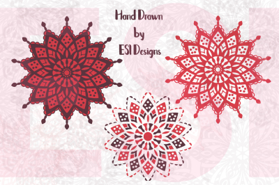 Mandala Designs Set 2 - SVG, DXF, EPS & PNG