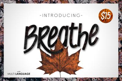 Breathe Typeface