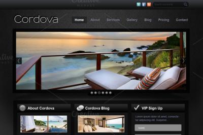 Cordova - PSD Website Template