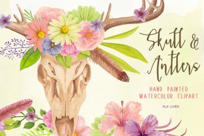 Skull & Antler Floral Arrangements