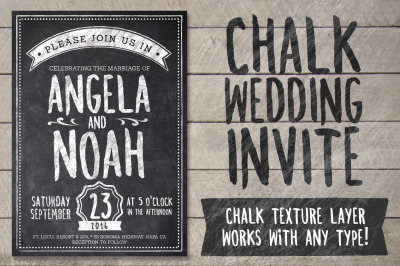 Chalk Wedding Invite Pack