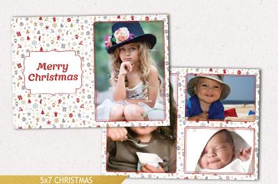 Christmas Card Template, Christmas Photo Template