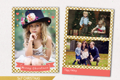Christmas Card Template - Holiday Photo Card