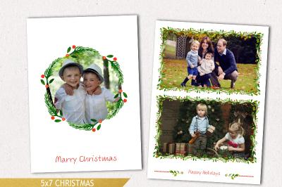 Christmas photo template, Holiday mini session