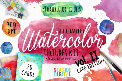 Watercolor Textures - Card Edition