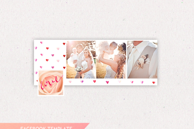 Facebook Cover Templates, INSTANT DOWNLOAD, Wedding Facebook Templates