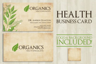 Health Logo Business Card