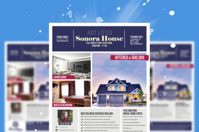 Real Estate advertising Flyer Template - Advertising Marketing - Photoshop template INSTANT DOWNLOAD
