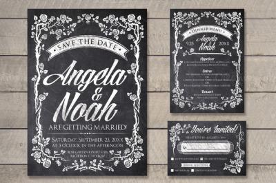 Chalk Wedding Invite