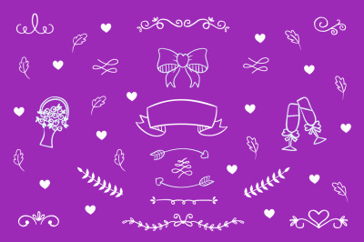 hand-drawing-wedding-elements-vector