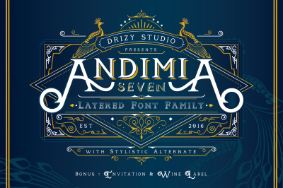 Andimia Layered Fonts Family